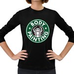 Caffeinated Bodypainter 3/4  - Women s Long Sleeve T-shirt
