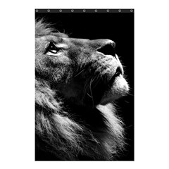 Male Lion Face Shower Curtain 48  X 72  (small)  by Zhezhe