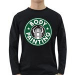 The Caffeinated Bodypainter, Long  - Men s Long Sleeve T-shirt