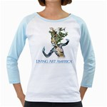Living Art America, 2017 Blue  - Women s Long T-Shirt