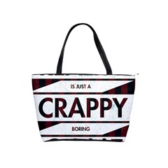 Reality Is Just A Crappy Boring Game Shoulder Handbags by Zhezhe