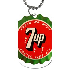 Fresh Up With  7 Up Bottle Cap Tin Metal Dog Tag (one Side) by Zhezhe