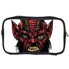 Krampus Devil Face Toiletries Bags 2 Side by Zhezhe