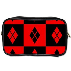 Harley Quinn Logo Pattern Toiletries Bags 2 Side by Zhezhe