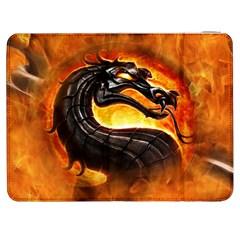 Dragon And Fire Samsung Galaxy Tab 7  P1000 Flip Case