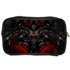 Black Dragon Grunge Toiletries Bags 2 Side by Zhezhe