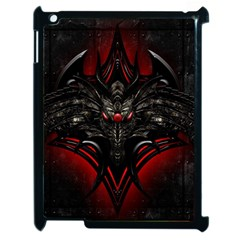 Black Dragon Grunge Apple Ipad 2 Case (black) by Zhezhe