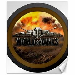 World Of Tanks Wot Canvas 8  X 10