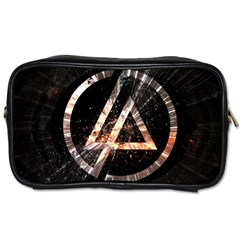 Linkin Park Logo Band Rock Toiletries Bags 2 Side by Zhezhe