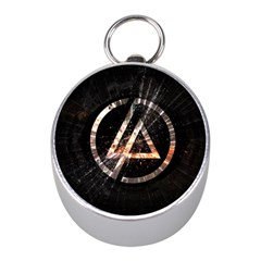 Linkin Park Logo Band Rock Mini Silver Compasses by Zhezhe