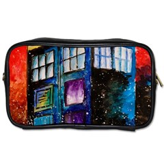 Dr Who Tardis Painting Toiletries Bags 2 Side by Zhezhe