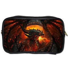 Dragon Legend Art Fire Digital Fantasy Toiletries Bags 2 Side by Zhezhe