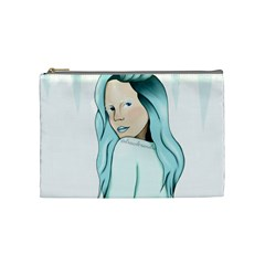 Winter Girl Cosmetic Bag (medium)  by drawlexandra