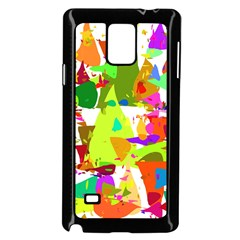 Colorful Shapes On A White Background                       Samsung Galaxy Note 4 Case (color) by LalyLauraFLM