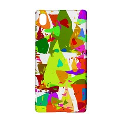 Colorful Shapes On A White Background                       Sony Xperia Z3+ Hardshell Case by LalyLauraFLM