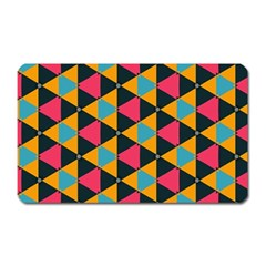 Triangles Pattern                           Magnet (rectangular) by LalyLauraFLM