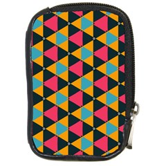 Triangles Pattern                           Compact Camera Leather Case by LalyLauraFLM