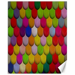 Colorful Tiles Pattern                           Canvas 16  X 20  by LalyLauraFLM