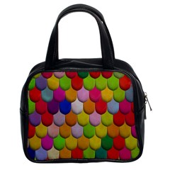 Colorful Tiles Pattern                           Classic Handbag (two Sides) by LalyLauraFLM