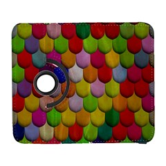 Colorful Tiles Pattern                     Samsung Galaxy Note Ii Flip 360 Case by LalyLauraFLM