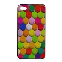 Colorful Tiles Pattern                     Apple Iphone 4/4s Seamless Case (black) by LalyLauraFLM
