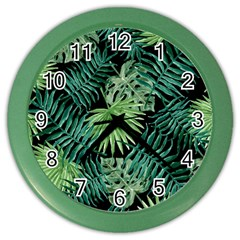 Tropical Pattern Color Wall Clocks by ValentinaDesign