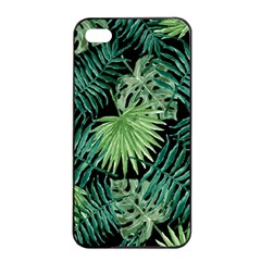 Tropical Pattern Apple Iphone 4/4s Seamless Case (black) by ValentinaDesign