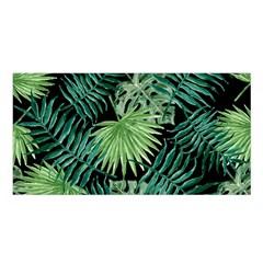 Tropical Pattern Satin Shawl by ValentinaDesign