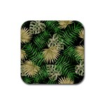 Tropical pattern Rubber Square Coaster (4 pack)  Front