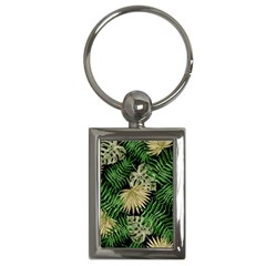 Tropical Pattern Key Chains (rectangle)  by ValentinaDesign