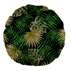 Tropical Pattern Large 18  Premium Round Cushions by ValentinaDesign
