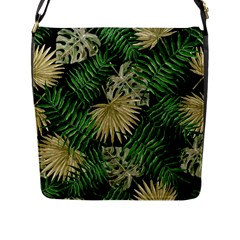 Tropical Pattern Flap Messenger Bag (l)  by ValentinaDesign