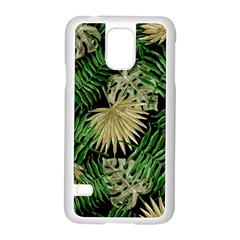 Tropical Pattern Samsung Galaxy S5 Case (white) by ValentinaDesign