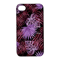 Tropical Pattern Apple Iphone 4/4s Hardshell Case With Stand by ValentinaDesign
