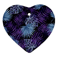 Tropical Pattern Ornament (heart) by ValentinaDesign