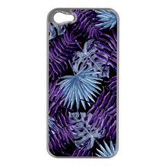 Tropical Pattern Apple Iphone 5 Case (silver) by ValentinaDesign