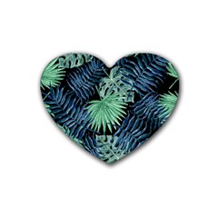 Tropical Pattern Rubber Coaster (heart)  by ValentinaDesign