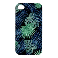 Tropical Pattern Apple Iphone 4/4s Premium Hardshell Case by ValentinaDesign