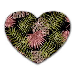 Tropical Pattern Heart Mousepads by ValentinaDesign