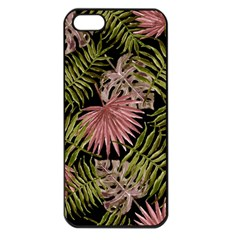 Tropical Pattern Apple Iphone 5 Seamless Case (black) by ValentinaDesign