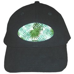 Tropical Pattern Black Cap by ValentinaDesign