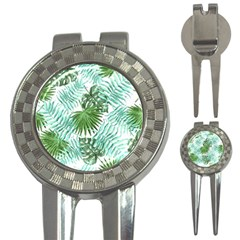 Tropical Pattern 3 In 1 Golf Divots by ValentinaDesign