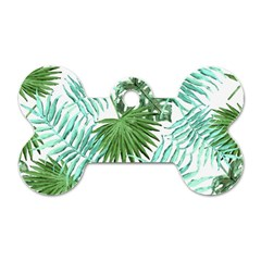 Tropical Pattern Dog Tag Bone (two Sides)