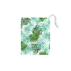 Tropical Pattern Drawstring Pouches (xs)  by ValentinaDesign