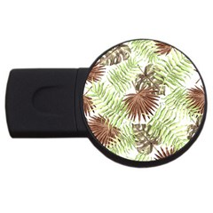 Tropical Pattern Usb Flash Drive Round (2 Gb) by ValentinaDesign
