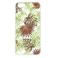 Tropical Pattern Apple Iphone 5 Seamless Case (white) by ValentinaDesign