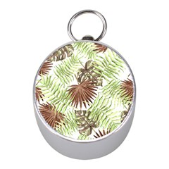 Tropical Pattern Mini Silver Compasses by ValentinaDesign