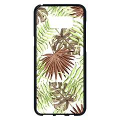 Tropical Pattern Samsung Galaxy S8 Plus Black Seamless Case by ValentinaDesign