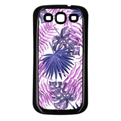 Tropical Pattern Samsung Galaxy S3 Back Case (black) by ValentinaDesign