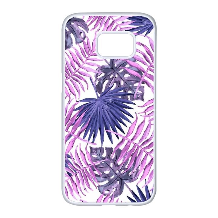 Tropical pattern Samsung Galaxy S7 edge White Seamless Case